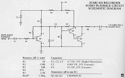 tape topics: play back schematic  atari magazines